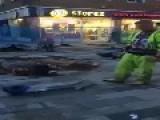 Road Worker Trick Fail