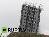 Russia: See Huge Blast FAIL To Demolish 16-storey Building