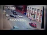 Road Sign Saves Pedestrian
