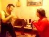RUSSIAN HUSBAND WIFE FIGHTING