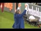 Russia's Sports Minister Vitaly Mutko Cheering On The Russian Hooligans Attacking English Fans Last Night