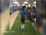 Rory McIlroy In The Gym Training With Drag Weights