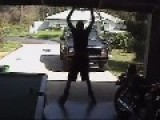 Rollerblader Crushed By Garage Door