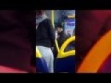 RAW FOOTAGE : African Immigrant Punches A UK Woman After He's Caught Reaching In Her Purse In A Bus 04 10