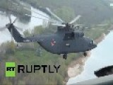 Russia: Military Choppers Show Their Firefighting Skills