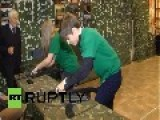 Russia: See Ukrainian Refugee Children Undergo MILITARY Training