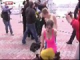 Russian Cossacks Militia Whips Pussy Riot Girls Who Are Trying To Peacfully Protest In Sochi