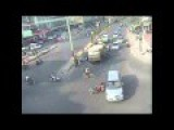 Road Accident - Car Hits Bike By Bangalore Traffic Police