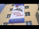Russia Gets Ready For Victory Day By Putting Banners Up With F15s On Them
