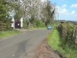 Rally Car Performs Unexpected Jump