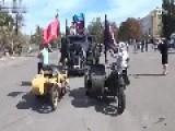 Rebels Parade On Street In Luhansk