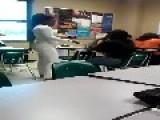 RATCHET GIRL FIGHT In Classroom = Brave Teacher Got In Between =