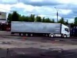 Russian Has Amazing Truck Driving Skills