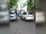 Russian Road Rage - Guy Vs Guy Vs Little Doggie