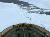 Russian Icebreaker Khelbnikov - Full Speed 2nd Attempt - Cutting Pack Ice