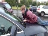 Road Rage With Baseball Bat