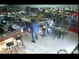 Robber Gets Beat Up By Bakery Clients In Brazil