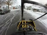 Riding POV Gocart In Snow