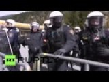Refugee Supporters Fight Police In Austria