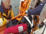 RNLI: Rhyl All-weather Lifeboat Aid Wounded Windfarm Technician