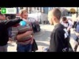 Russian Activists Approach Smokers In The Street And Make Them Extinguish Their Cigarettes. Episode 3