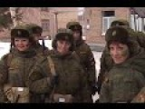 Russian Female Soldiers Go Through Military Competition