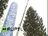 Russia: See Felling Of 2014 Kremlin Christmas Tree