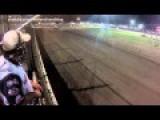 Racecar Crashed Almost Took Flagman's Head Off | RAW VIDEO