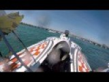 Race Boat Flips On Board Camera View