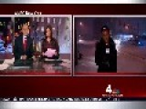 Reporter Almost Hit By Drifting Car Blizzard 2015 NY