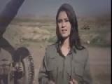 Rare Fotage Of Female Peshmerga Fighters