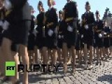 Russia: Future Police Officers Parade On Red Square