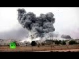 RAW: Attacks Create Huge Smoke Cloud Over Kobani