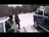 Russian Terrorists Stealing A Car In Ukraine