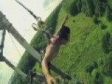 Russian Base Jumpers Use Metal Hooks In SKIN To Support Them In 73m Free Fall
