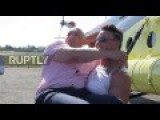Russian Woman Can Pull 8 Ton Helicopter