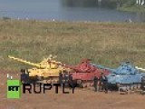 Russia: Tanks Tussle Over Trial Title At Biathlon Games