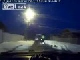 Russian Super Cop Runs Down Vehicle