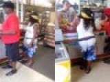 Ratchet Female Is Pissed Off Because She Can't Get Cash With Her EBT Card