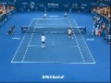 Roger Federer Smash Shot Leaves Opponents Baffled At Brisbane Invitational
