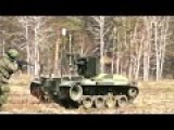 Russian Taifun-M Combat Robot In Action During Military Robot Live Fire Test