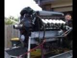 Rolls Royce Merlin V-12 Engine Runing - No Prop To Spoil Sound