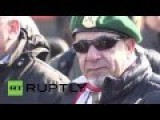Russia: Moscow Rally In Support Of Assad Interupted By Pro-Israeli Protester
