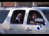 Ron Paul Motorcade: Crowd Rushes In On SUV