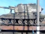 Russian Aggressor Forces Move 2S19 Self Propelled Howitzers Up To The Eastern Ukrainian Border