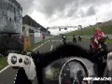 Racing Motorcycle Witnesses Huge Wipeout