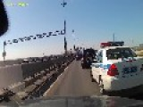 Russian Police Escort Protecting Special Person And Being A Wanker About It