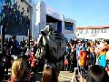 Robot Entertains Children In Sochi. Russia