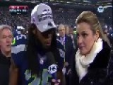 Richard Sherman Has A Booker-T Moment At NFC 2014 Championship