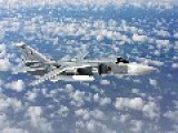 Russian Fighter Jet Sukhoi Su-24 Makes Multiple Low Altitude Passes Over US Warship